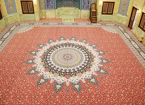 فرش مسجد بقیه الله الاعظم پاسداران