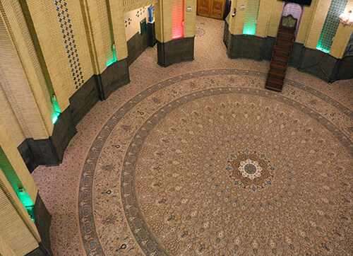 فرش یکپارچه کد : 10042 ، مسجد الغدیر میرداماد (تهران)