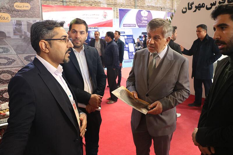 حضور گروه تخصصی فرش اسلیمی در اولین دوره نمایشگاه تخصصی و فن بازار فرش ماشینی و صنایع وابسته کاشان (1398)