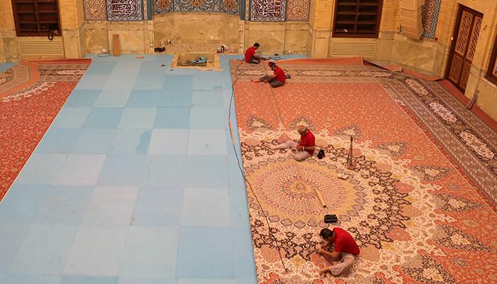 نصب و یکپارچه سازی فرش
