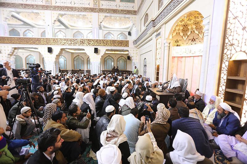 افتتاحیه مسجد جامع توحیدی زاهدان با حضور شیخ الاسلام مولانا عبدالحمید
