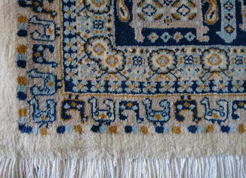 Code : W0006P2CB ، cream background ، blue border