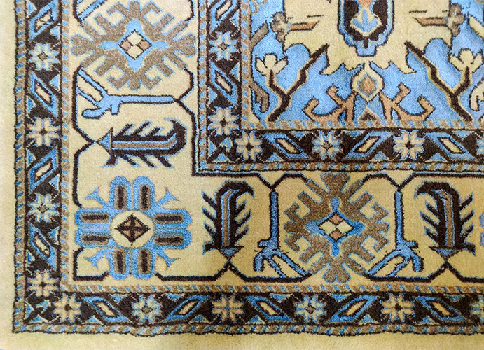 کد : W0019P4WC-BY ( سفید ، کرم ) ، آبی و طلایی هارمونیک